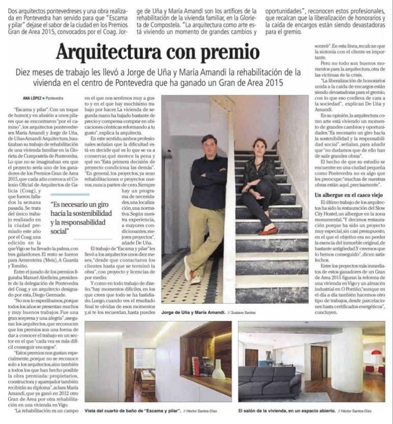 u+a arquitectura en el Faro de Vigo
